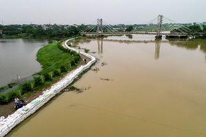 Mực nước nhiều sông, hồ tại Hà Nội vẫn ở mức cao