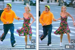 Justin Bieber biểu cảm nhắng nhít, nắm tay bạn gái dạo phố ở New York
