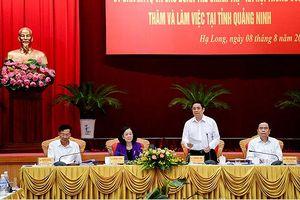 Ban Tổ chức, Ban Dân vận Trung ương làm việc với tỉnh Quảng Ninh