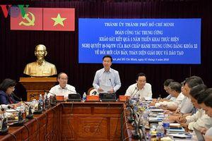 Xây dựng TP Hồ Chí Minh thành trung tâm giáo dục chất lượng cao của khu vực