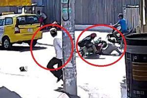 Clip: Chủ nhà lao ra nhanh như cắt, kéo 2 kẻ trộm sơn ngã sấp mặt
