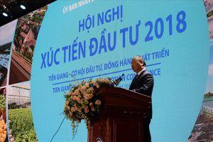 Thủ tướng Nguyễn Xuân Phúc dự Hội nghị Xúc tiến đầu tư tỉnh Tiền Giang