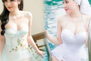 Vợ cũ Hồ Quang Hiếu lại mặc mỏng tang khoe làn da trắng như sứ