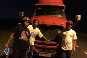 Bình Dương: Hiệp sĩ đường phố tìm thấy xe container bị trộm hơn 1 tháng