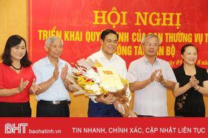 Nguyên Chỉ huy trưởng BĐBP Hà Tĩnh giữ chức Trưởng ban Nội chính Tỉnh ủy