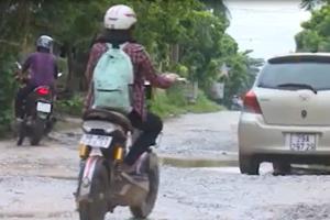 Đường tỉnh 294 ở Bắc Giang xuống cấp nghiêm trọng