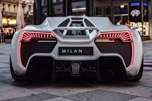 Siêu xe Milan Red hoàn toàn mới gây 'choáng' với sức càn lướt 1.306 mã lực
