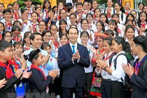 Chủ tịch Nước Trần Đại Quang gặp mặt 200 chỉ huy Đội giỏi toàn quốc