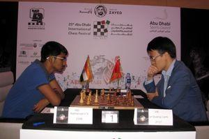 Lê Quang Liêm á quân cờ chớp giải cờ vua quốc tế UAE