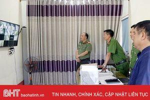 Thị trấn Cẩm Xuyên lắp 13 camera giám sát tình hình an ninh trật tự