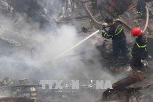 Long An khống chế hoàn toàn vụ cháy tại công ty cao su