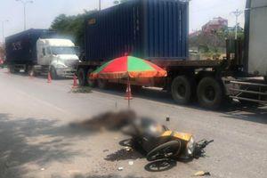 Hải Phòng: Đầu kéo va chạm với xe máy, 1 người tử vong