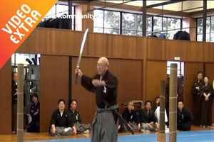 Võ sư dùng kiếm Nhật chém tre như cắt giấy
