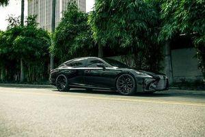 Xe độ Lexus LS đen toàn thân 'siêu ngầu'