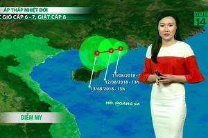 Bản tin thời tiết ngày 12/8: Mưa dông tiếp diễn ở Nam bộ và Tây Nguyên