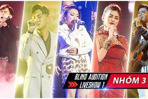 Nhóm 3 - Liveshow 1: 5 chiến binh 'triệu view' đồng loạt tung chiêu 'độc' tranh vé vào top 10