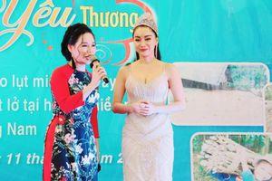 Hoa hậu Hồng Tươi mong những điều tốt đẹp nhất đến với người khó khăn