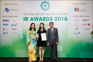 Digiworld tiếp tục nhận giải thưởng về quan hệ nhà đầu tư