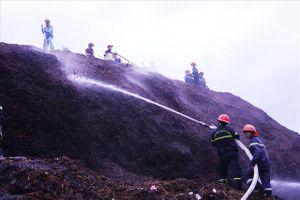 Cháy kho dăm gỗ, hàng trăm Cảnh sát PCCC được huy động