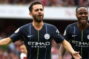 Arsenal thất thủ 0-2 trước Man City trên sân nhà