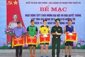 Đội bóng chuyền BĐBP Nghệ An đoạt giải Ba khối nội chính, lực lượng vũ trang tỉnh Nghệ An