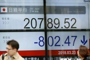 Chứng khoán châu Á mất điểm, đồng euro chạm mức thấp nhất