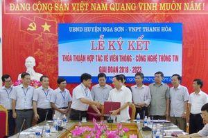 VNPT đã ký kết hợp tác với gần 20 huyện/thị/thành phố trực thuộc tỉnh Thanh Hóa