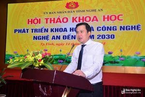 Thứ trưởng Bộ KH&CN gợi mở Nghệ An phát triển theo 'mô hình Israel'