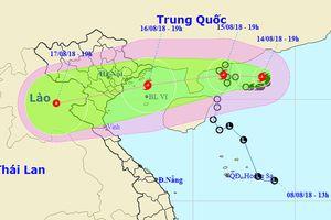 Bão số 4 gây mưa to đến rất to ở Bắc bộ và bắc Trung bộ