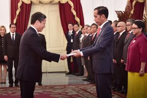 Đại sứ Phạm Vinh Quang trình Quốc thư lên Tổng thống Cộng hòa Indonesia