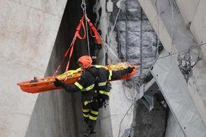 Cứu hộ Italy xuyên đêm tìm kiếm người kêu khóc dưới cầu cao tốc bị sập