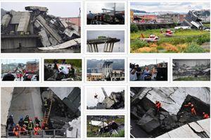 Cảnh tượng hoang tàn sau vụ sập cầu tại Ý