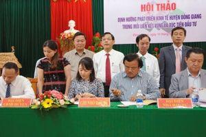 Quảng Nam: Tập đoàn FVG cam kết đầu tư Dự án Khu du lịch sinh thái Cổng trời Đông Giang