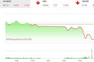 VN-Index sụt giảm gần 17 điểm