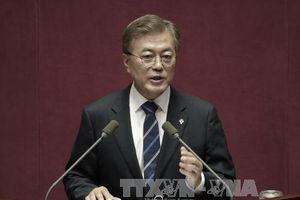 Tỷ lệ ủng hộ Tổng thống Hàn Quốc Moon Jae-in giảm xuống mức thấp nhất