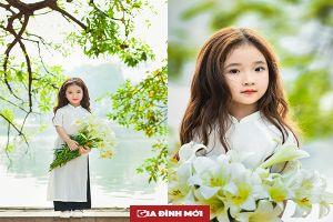 Vẻ đẹp mỏng manh của cô bé Hà Nội bên hoa loa kèn khiến cộng đồng mạng thổn thức