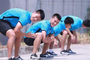 'Dàn sao' Olympic Việt Nam cười sảng khoái, sẵn sàng đấu Olympic Nepal