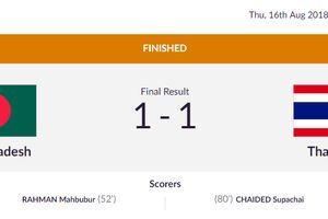 Đá nửa sân đối phương, Olympic Thái Lan vẫn 'chết hụt'