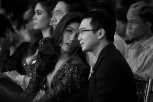 Chồng sắp cưới 'hộ tống' Lan Khuê nhận giải Biểu tượng sắc đẹp của năm