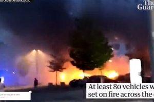 Thụy Điển: Phóng hỏa đốt 100 ôtô trong đêm