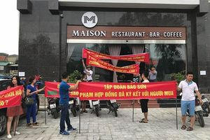 Nghệ An xử lý vụ cư dân căng băng rôn phản đối chủ đầu tư