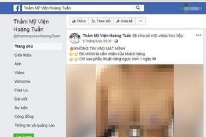 Thẩm mỹ viện Hoàng Tuấn bị phạt vì quảng cáo nâng ngực trái phép