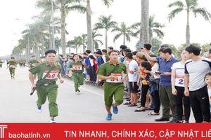 Giải chạy việt dã, vũ trang và bóng chuyền nam Công an Hà Tĩnh