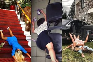 Hội con nhà giàu tích cực lăng xê mốt chụp ảnh 'ngã sấp mặt' khiến dân tình cười muốn xỉu