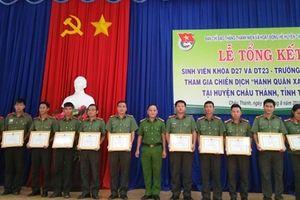 Khen thưởng 32 tập thể, cá nhân xuất sắc Chiến dịch Hành quân xanh