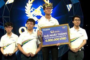 10X Hà Nội ghi tên vào cuộc thi quý Olympia sau câu hỏi cuối cùng