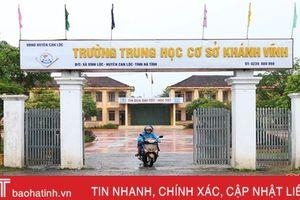 Sáp nhập 8 trường, tiến tới sáp nhập 4 xã ở Can Lộc