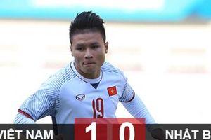 Đánh bại Nhật, Olympic Việt Nam đứng đầu bảng với 3 trận toàn thắng