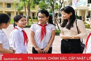 330.000 giáo viên, học sinh Hà Tĩnh bước vào ngày tựu trường