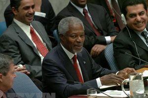 Trụ sở LHQ tại Geneva hạ thấp cờ để tưởng nhớ ông Kofi Annan